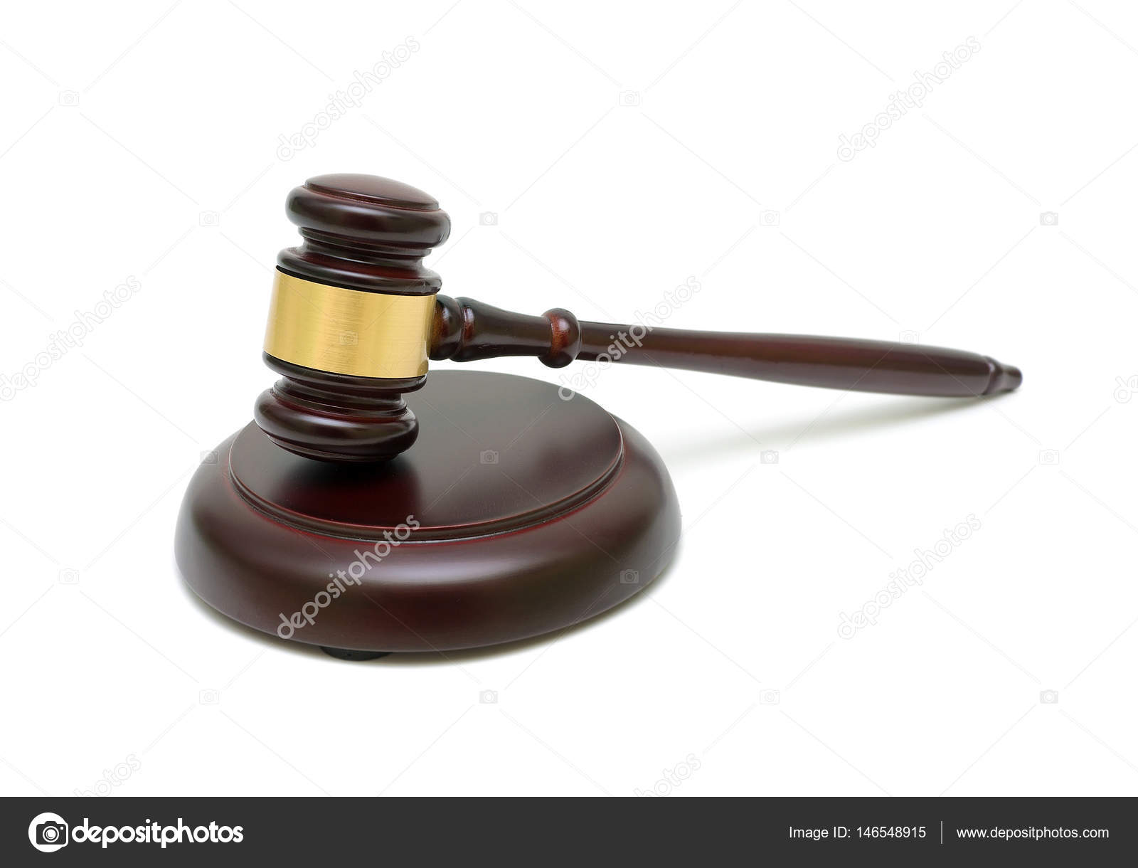 Parkett Richter holz richter hammer isoliert auf weißem hintergrund stockfoto