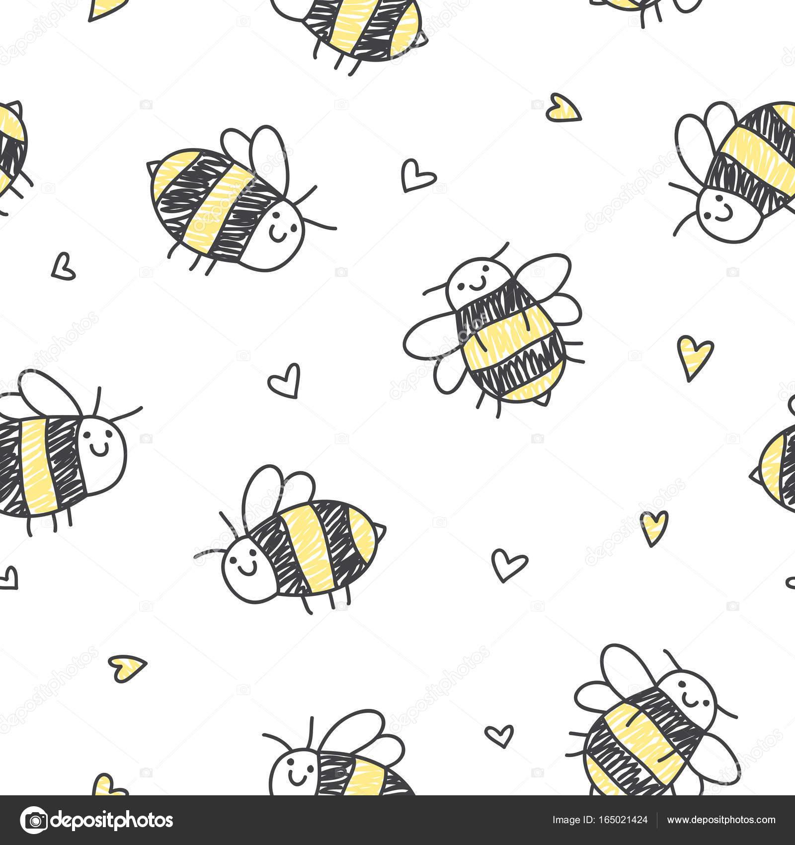 patrón sin fisuras de las abejas — Archivo Imágenes Vectoriales ...