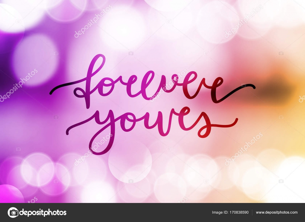 forever yours lettering — Stoc...