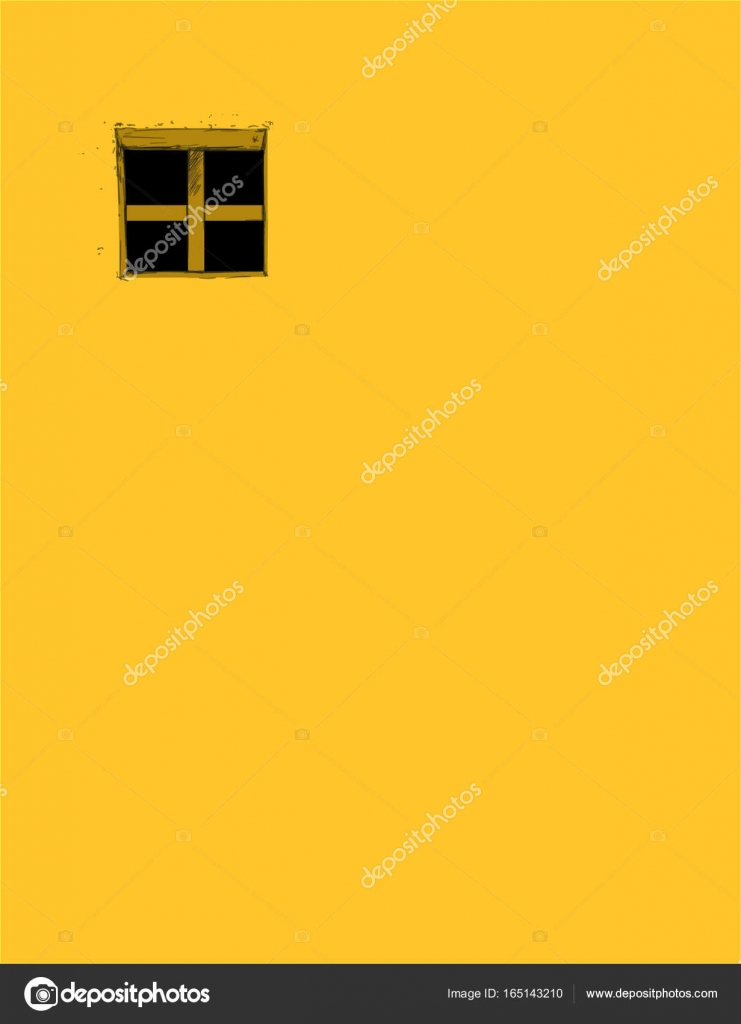 window on Yellow wall in vintage style.Pane old classic yellow ...