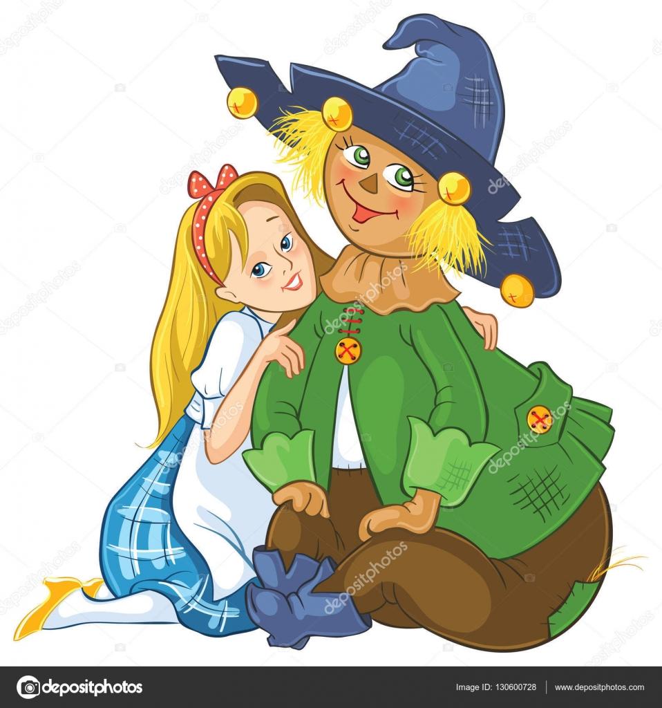 Dorothy y el espantapájaros. Mago de Oz ilustración de dibujos ...