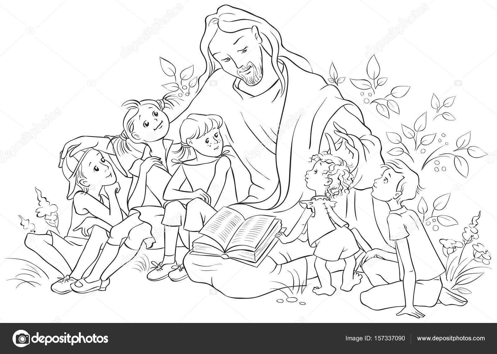 Jesus der Bibel für Kinder — Stockvektor © Aura #157337090