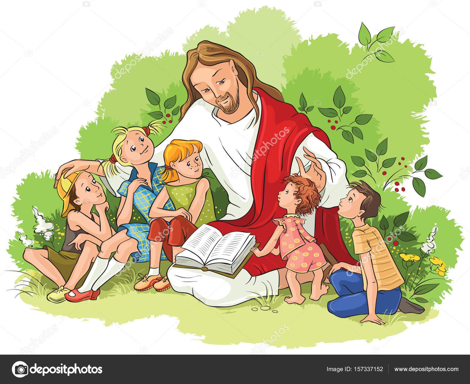 Fotos Jesus Con Niños Lectura De La Biblia A Los Niños De Jesús