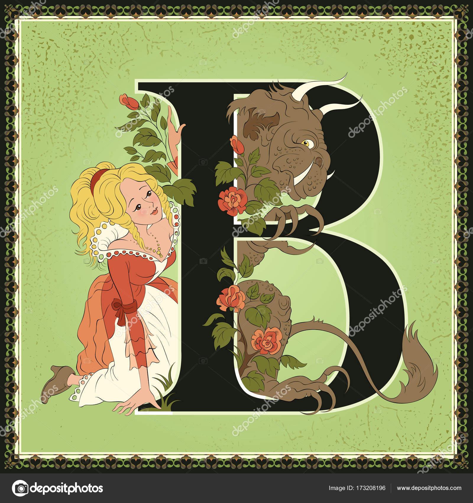 Los niños del libro alfabeto de cuento de hadas de dibujos animados ...