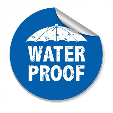 Sticker with umbrella and inscription Water Prooff