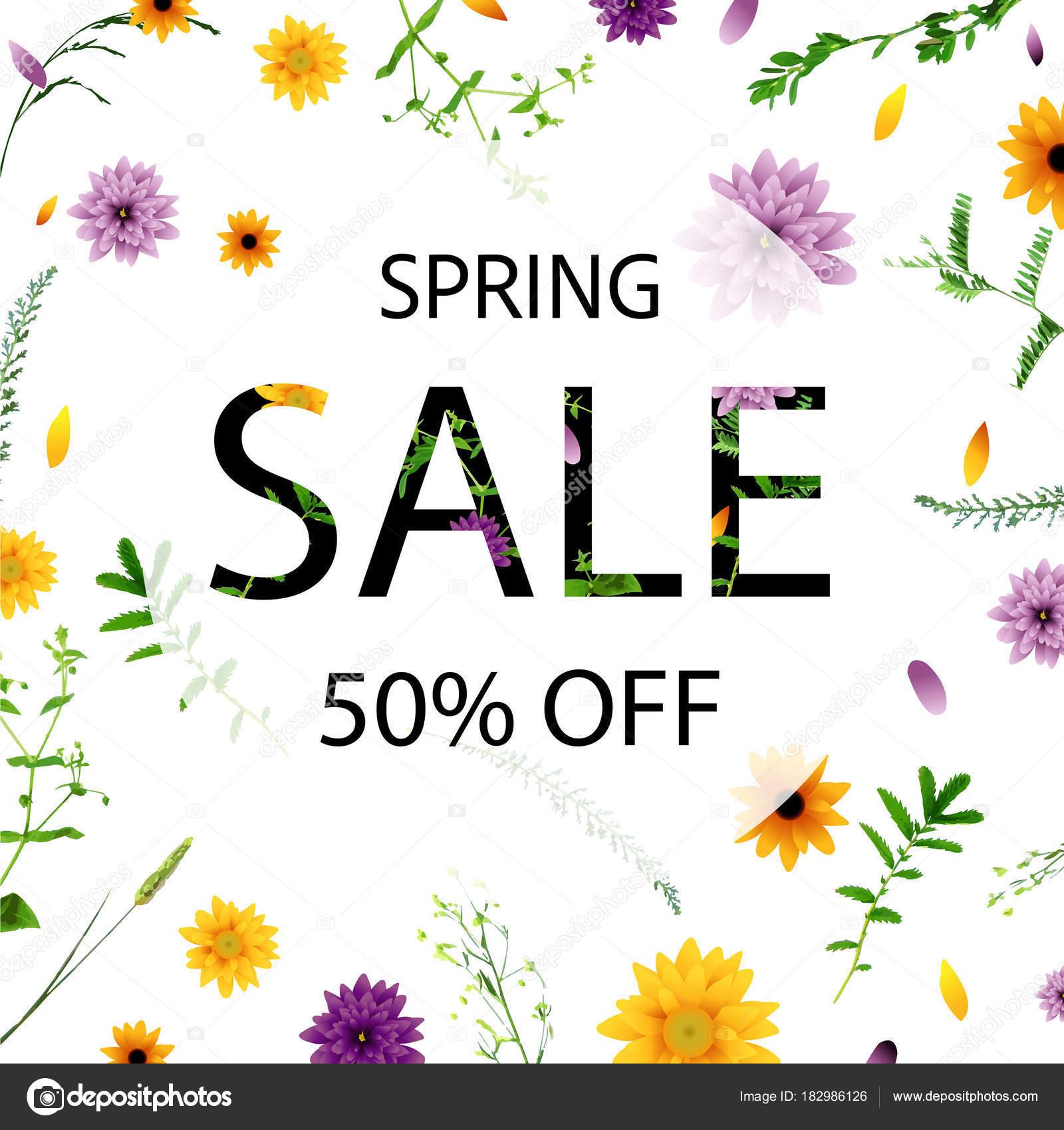 春の花 ベクトル イラスト集販売ポスター ストックベクター
