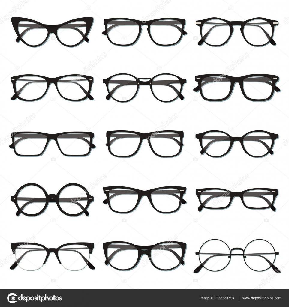 Glasses frame set — Stock Vector © Isovector #133381594