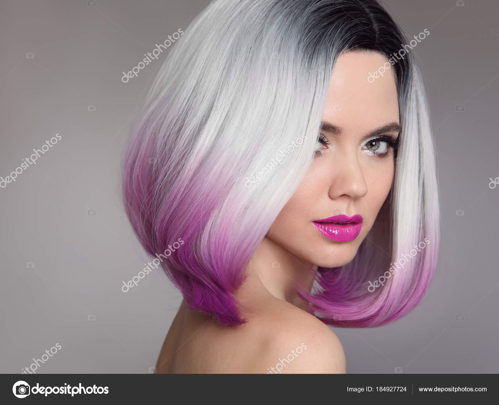 Ombre extensions with short hair