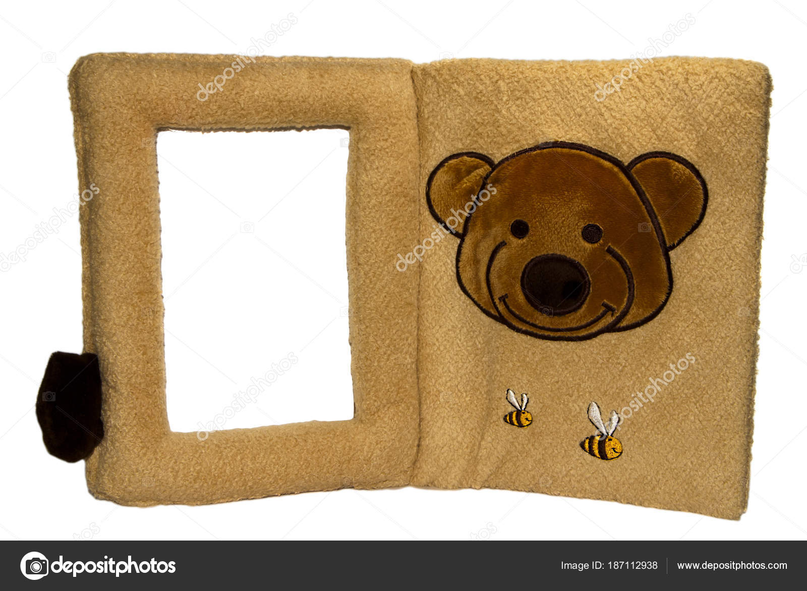 Soft baby family photo frame with teddy bear and the bees — Stock ...