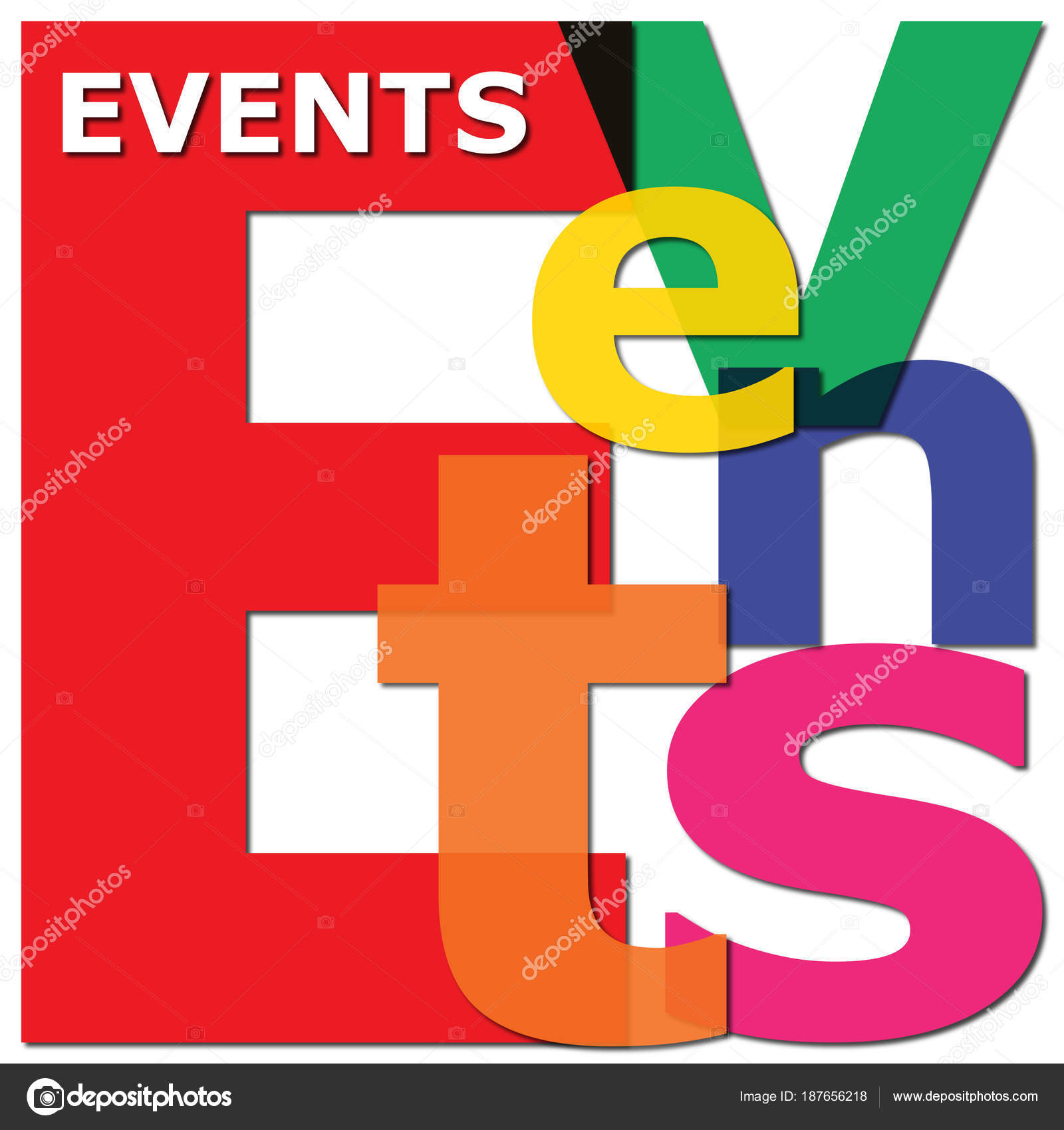 events word letter collage for corporate calendar coming up stock