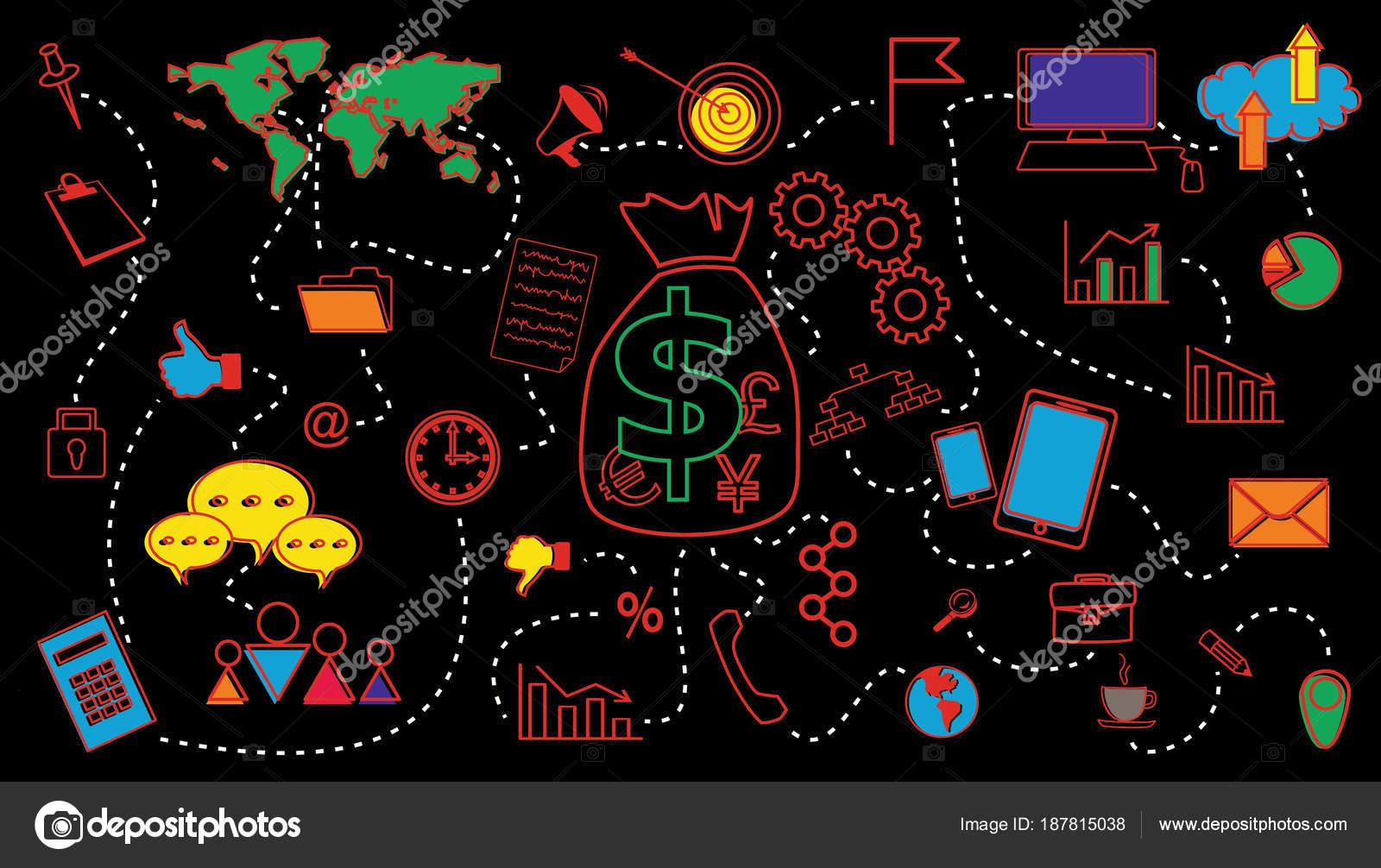 Concepto de finanzas planificación de negocio para plantillas de ...