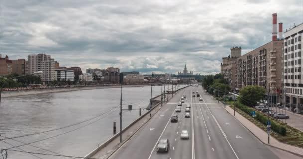 Pohled na Berezhskovskaya Naberejnaya