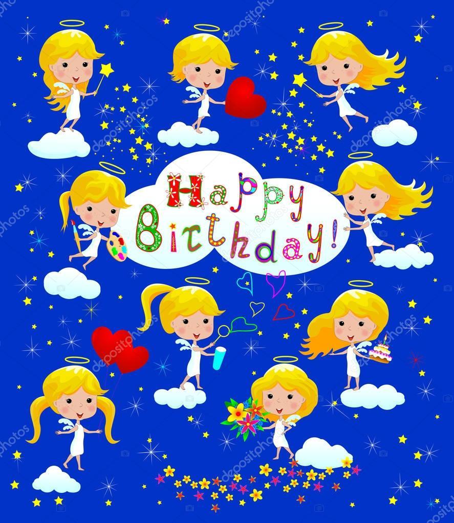 Auguri Di Buon Compleanno Vettoriali Stock Liole 129337288