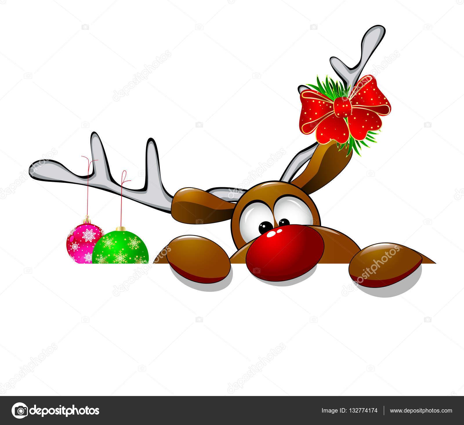 Leuke Kerst Rendier Rudolf 4 Stockvector Liole 132774174