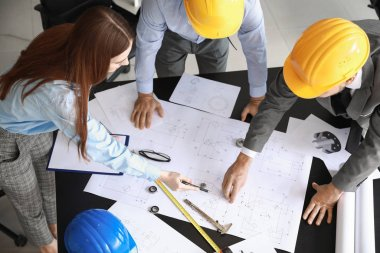 Group of engineers working in office
