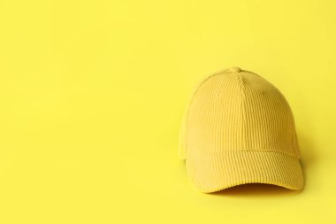 Blank cap on color background