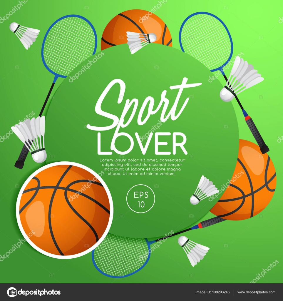 Milovník sportu  Sportovní vybavení prvky  vektorové ilustrace — Vektor od  daraon dccffeaa9a