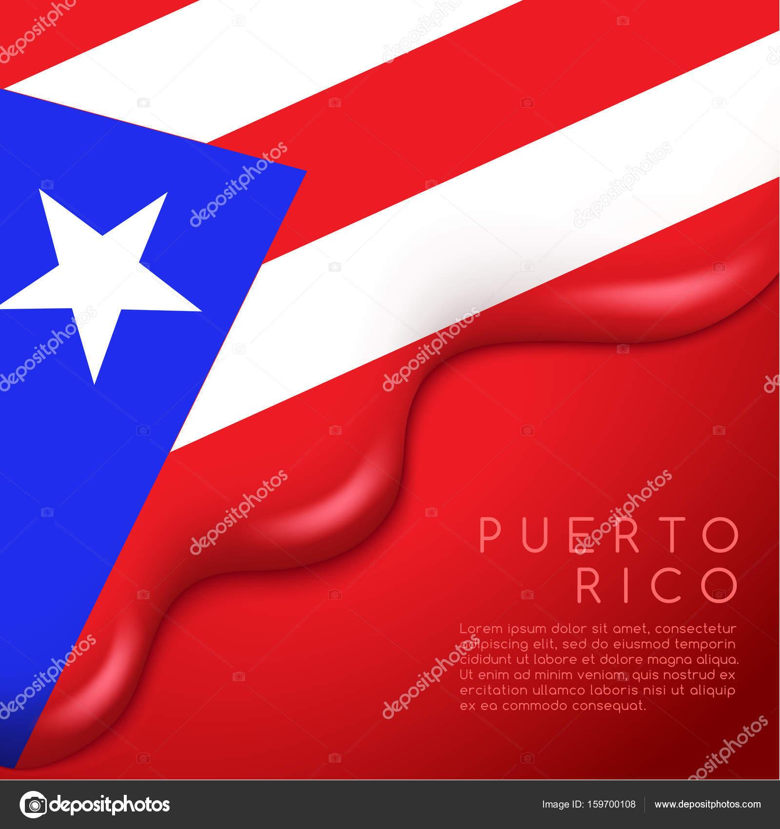 Design Of Puerto Rico Flag Stock Vector