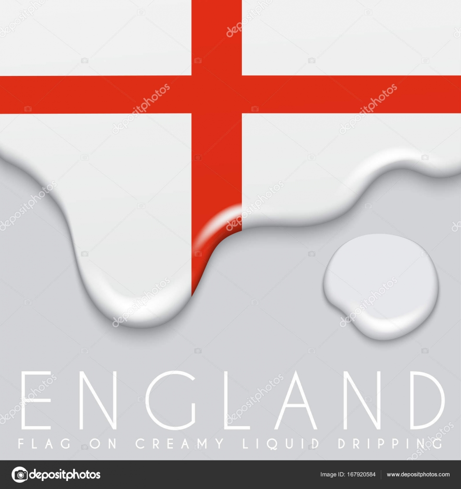 England Flag on Creamy Dripping — Stock Vector © daraon #167920584