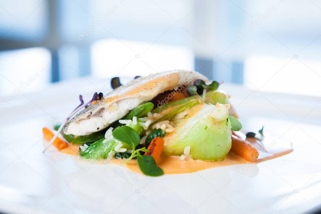 Fried whitefish fillet