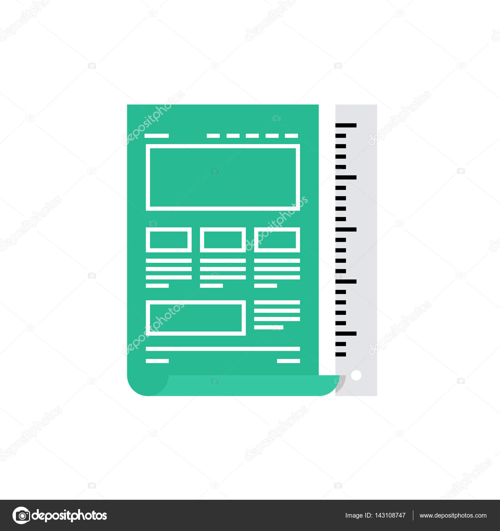 Icon of website blueprint stock vector bloomua 143108747 vector illustration design of modern icon of website blueprint web page sketching and web development vector by bloomua malvernweather Gallery