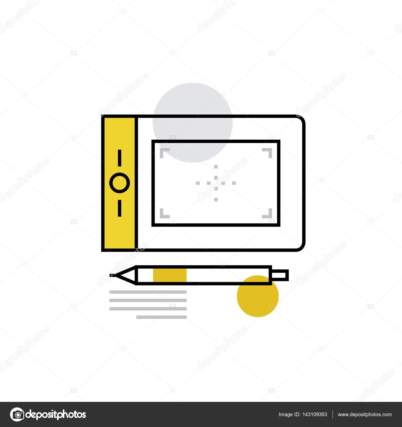 Symbol von digital-Tablette — Stockvektor © bloomua #143109363