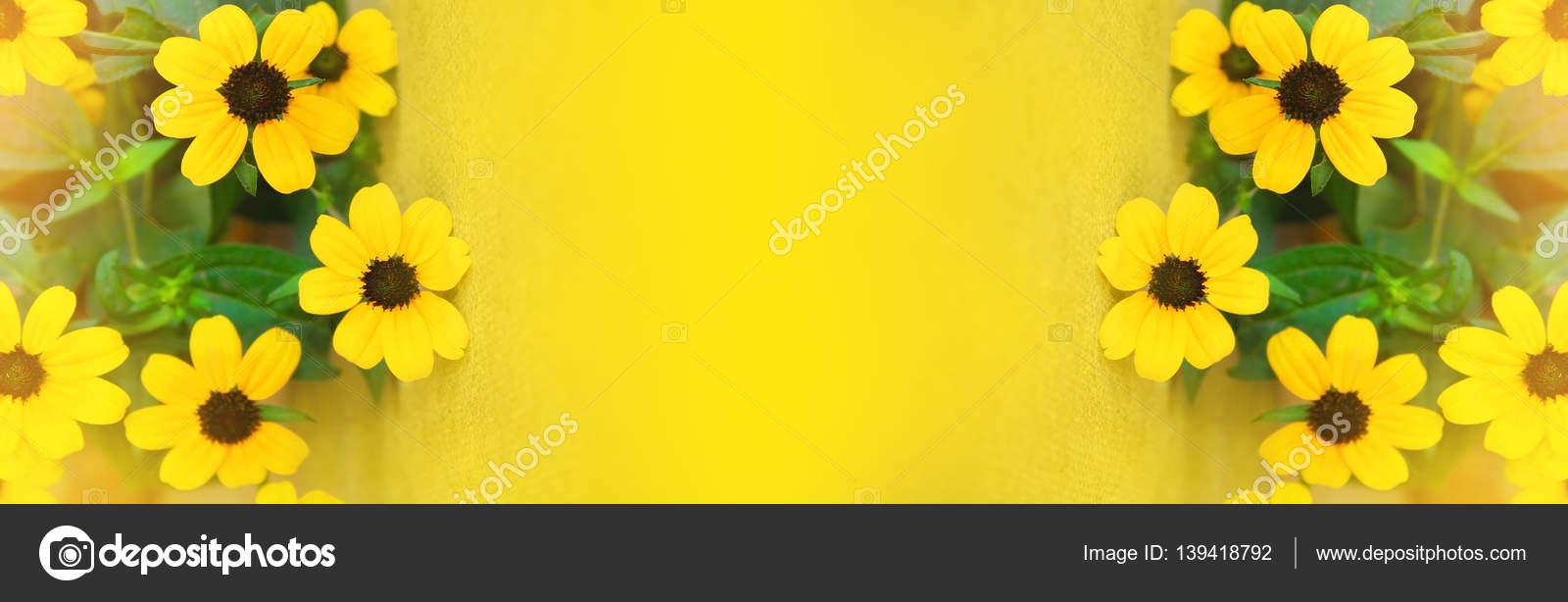 Pretty Yellow Flowers On Burlap Stock Photo Burnyipotok 139418792