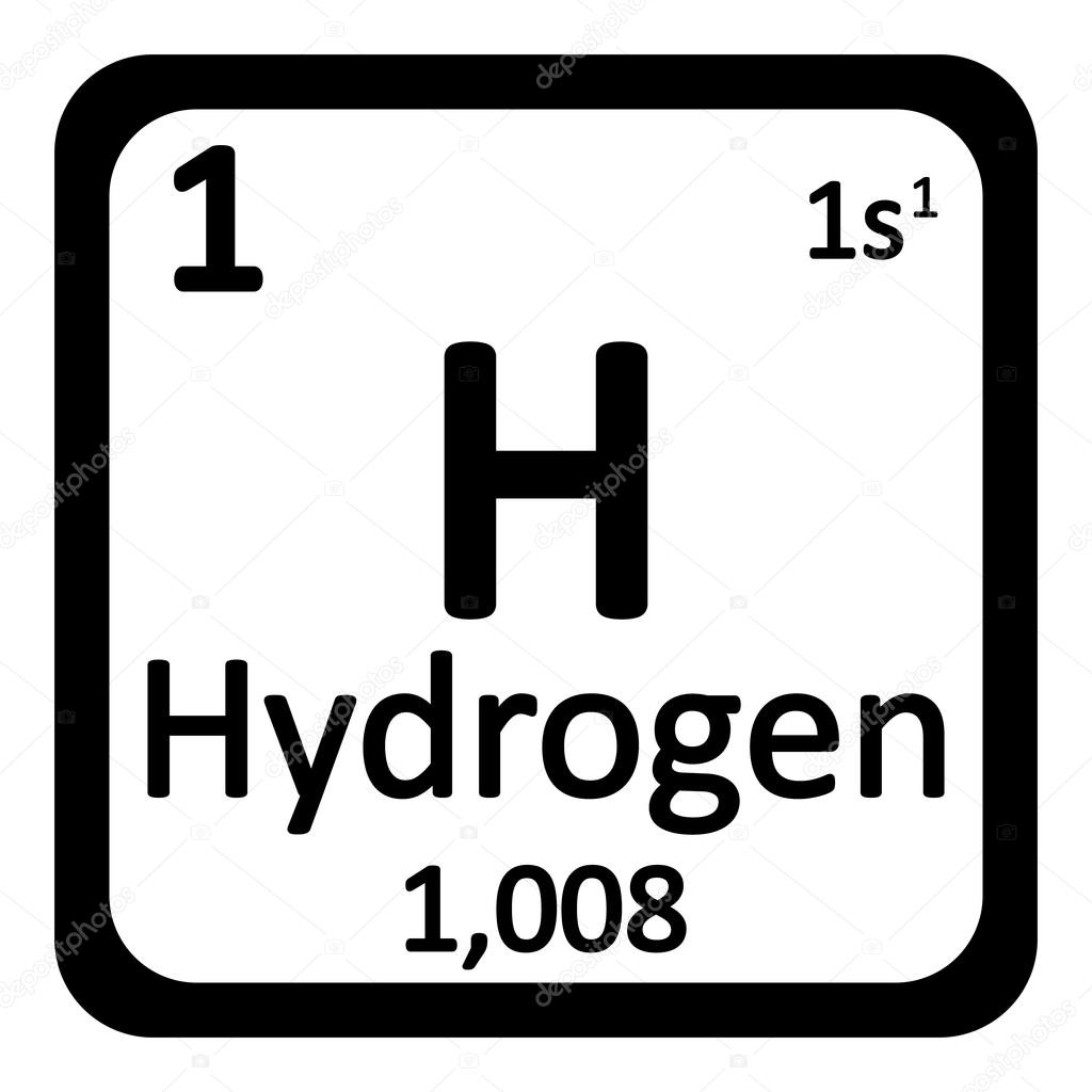 Periodic table element hydrogen icon stock vector konstsem periodic table element hydrogen icon on white background vector illustration vector by konstsem gamestrikefo Choice Image