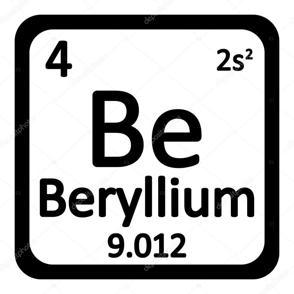 Icono de berilio de elemento de tabla peridica archivo imgenes tabla periodica elemento berilio el icono sobre fondo blanco ilustracin de vector vector de konstsem urtaz Gallery
