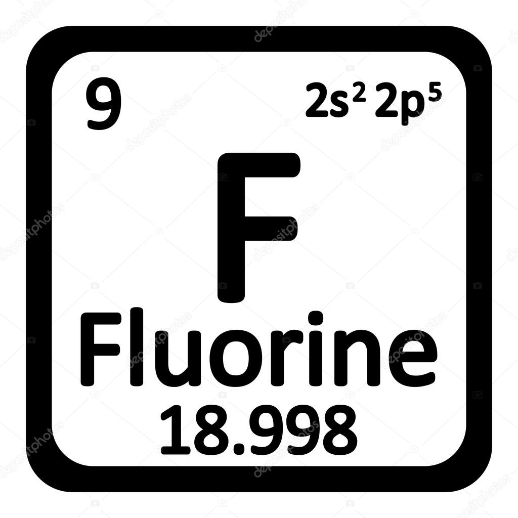 Periodic table element fluorine icon stock vector konstsem periodic table element fluorine icon on white background vector illustration vector by konstsem gamestrikefo Choice Image