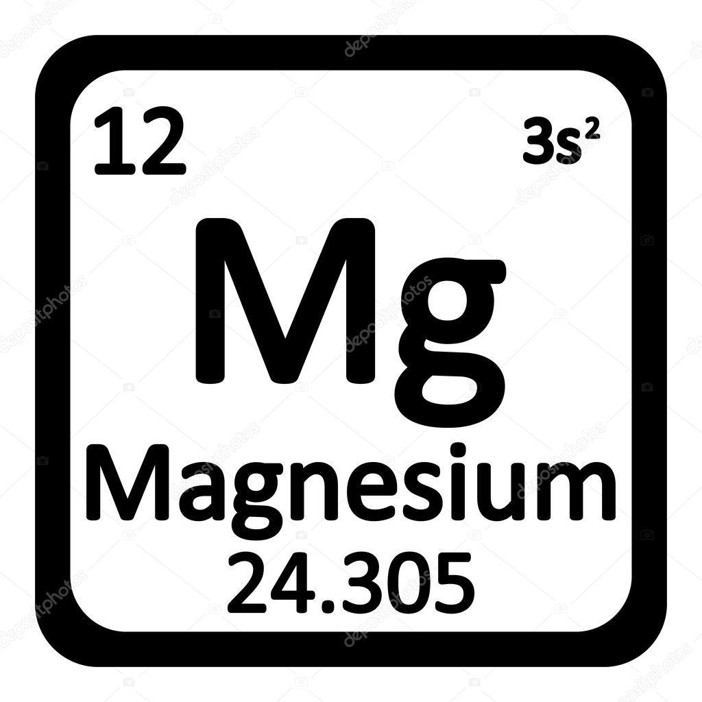 icono de magnesio elemento tabla peridica vector de stock - Tabla Periodica Mg