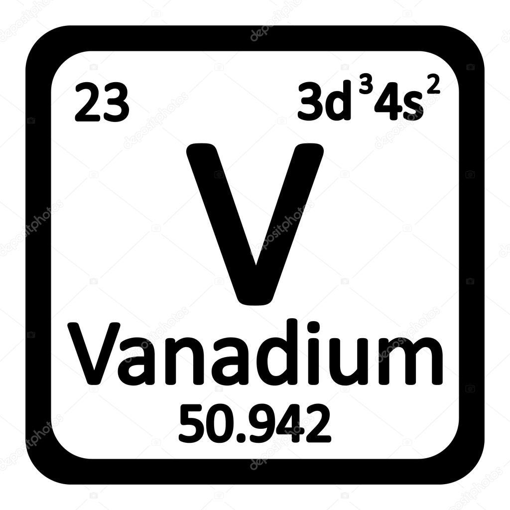 Icono de vanadio de elemento de tabla peridica archivo imgenes tabla periodica elemento vanadio el icono sobre fondo blanco ilustracin de vector vector de konstsem urtaz Image collections