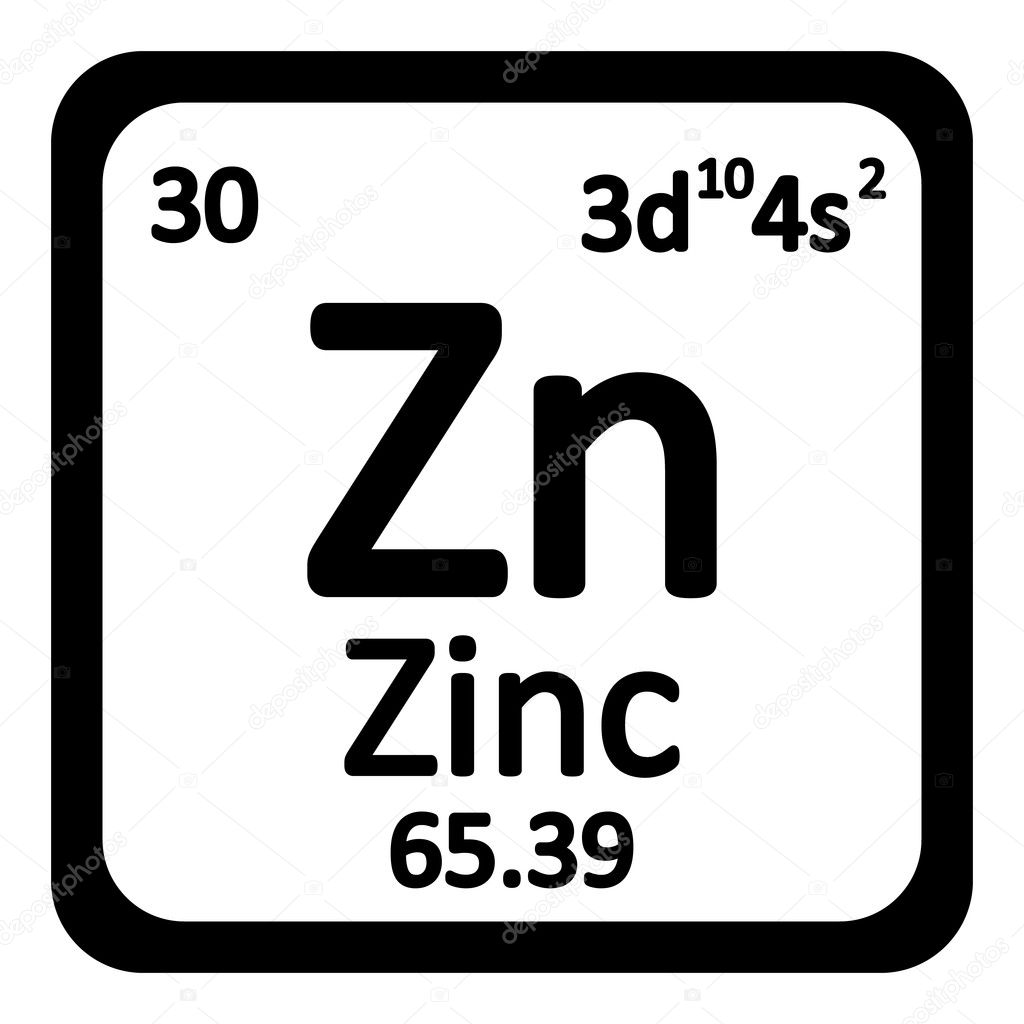 Periodic table element zinc icon stock vector konstsem 126110022 periodic table element zinc icon on white background vector illustration vector by konstsem urtaz Image collections