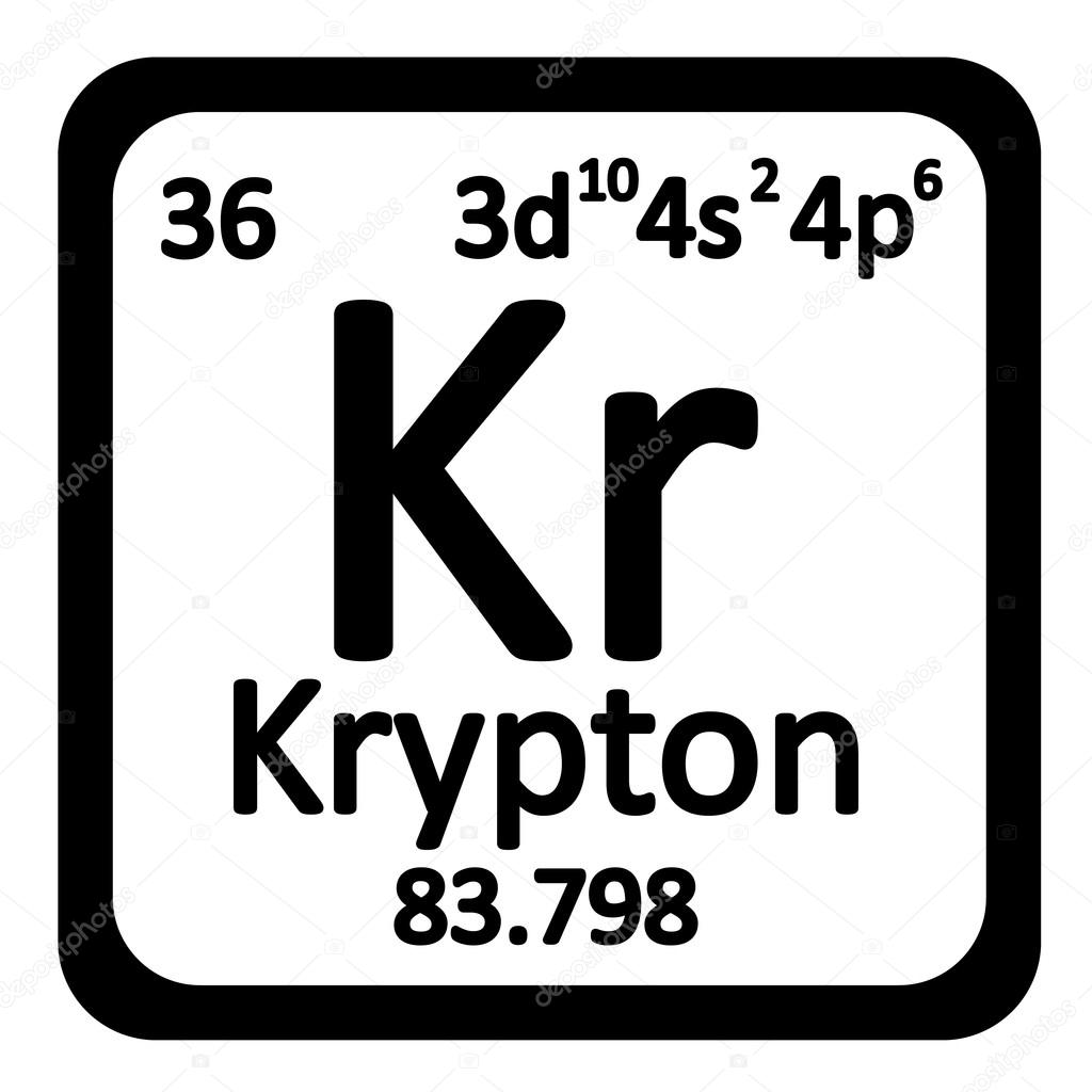 Krypton Element Periodic Table Periodická tabulk...