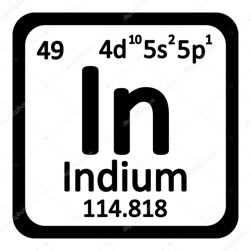 Periodic table element indium icon stock vector konstsem periodic table element indium icon on white background vector illustration vector by konstsem gamestrikefo Images