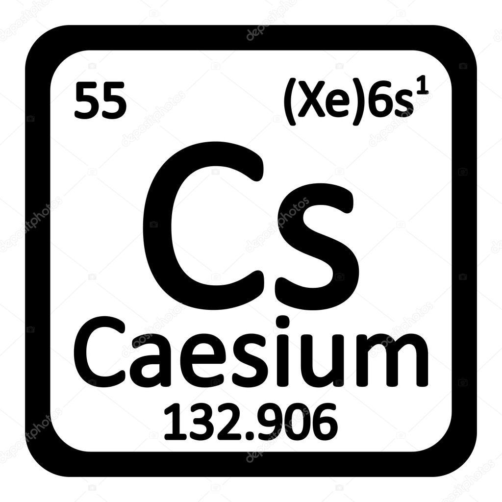 Icono de cesio elemento tabla peridica vector de stock konstsem tabla periodica elemento cesio el icono sobre fondo blanco ilustracin de vector vector de konstsem urtaz Choice Image
