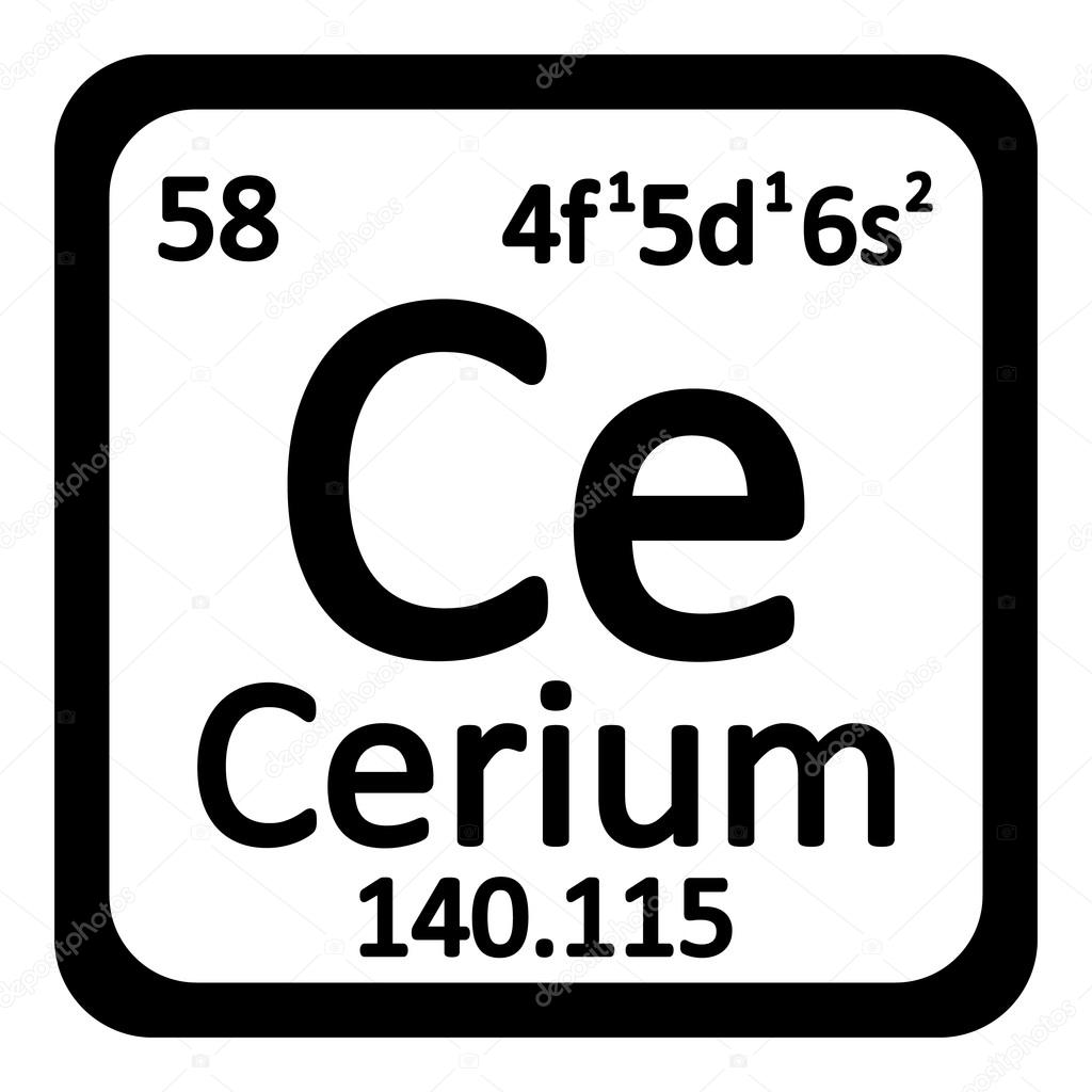 Periodic table cerium images periodic table images periodic table element cerium icon stock vector konstsem periodic table element cerium icon on white background gamestrikefo Gallery