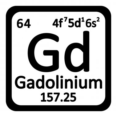 Periodic table element gadolinium icon.