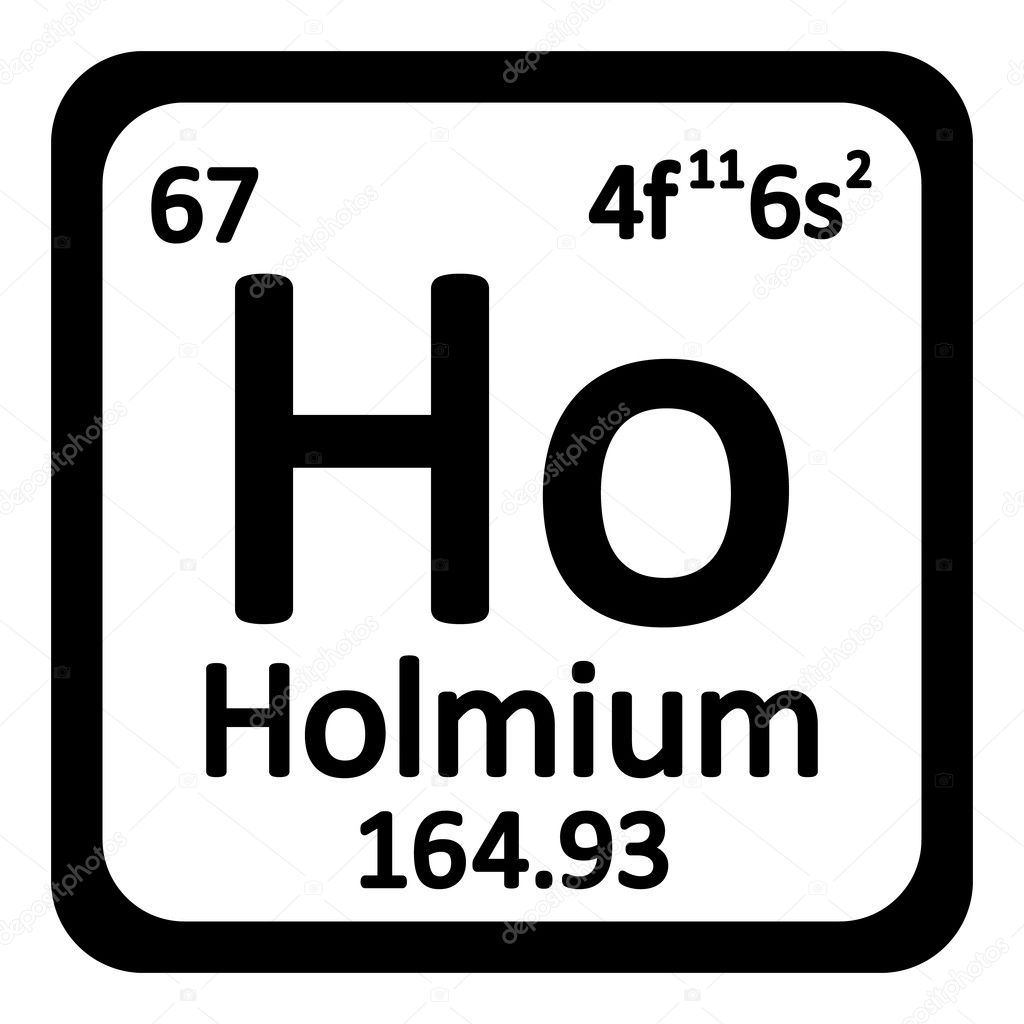 Icono de holmio de elemento de tabla peridica archivo imgenes tabla periodica elemento holmio el icono sobre fondo blanco ilustracin de vector vector de konstsem urtaz Choice Image