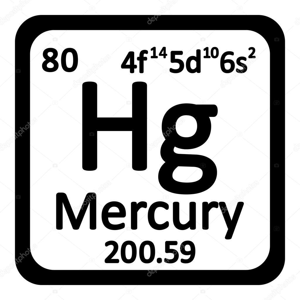 Icono de mercurio de elemento de tabla peridica archivo imgenes tabla periodica elemento mercurio el icono sobre fondo blanco ilustracin de vector vector de konstsem urtaz Gallery