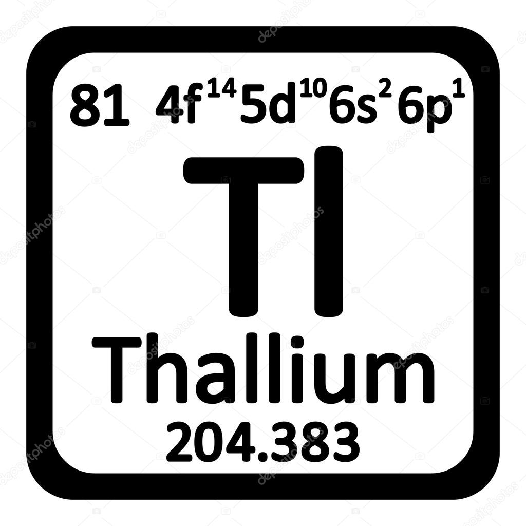 Periodic table element thallium icon stock vector konstsem periodic table element thallium icon stock vector urtaz Choice Image