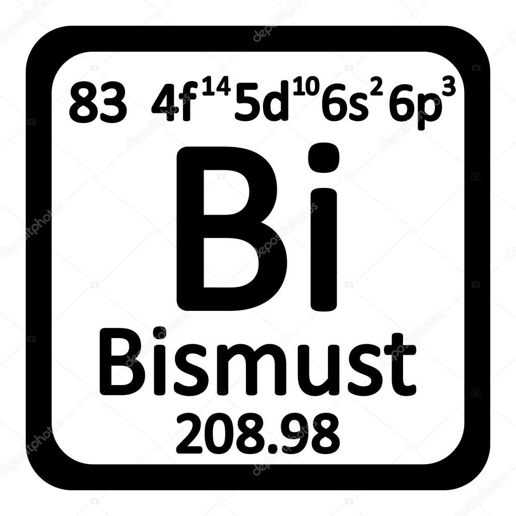 Icono de bismuto de elemento de tabla peridica vector de stock icono de bismuto de elemento de tabla peridica vector de stock urtaz Gallery