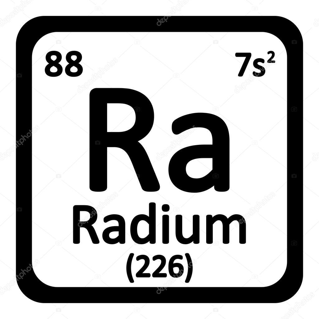 Icono de radio de elemento de tabla peridica archivo imgenes tabla periodica elemento radium el icono sobre fondo blanco ilustracin de vector vector de konstsem urtaz Images
