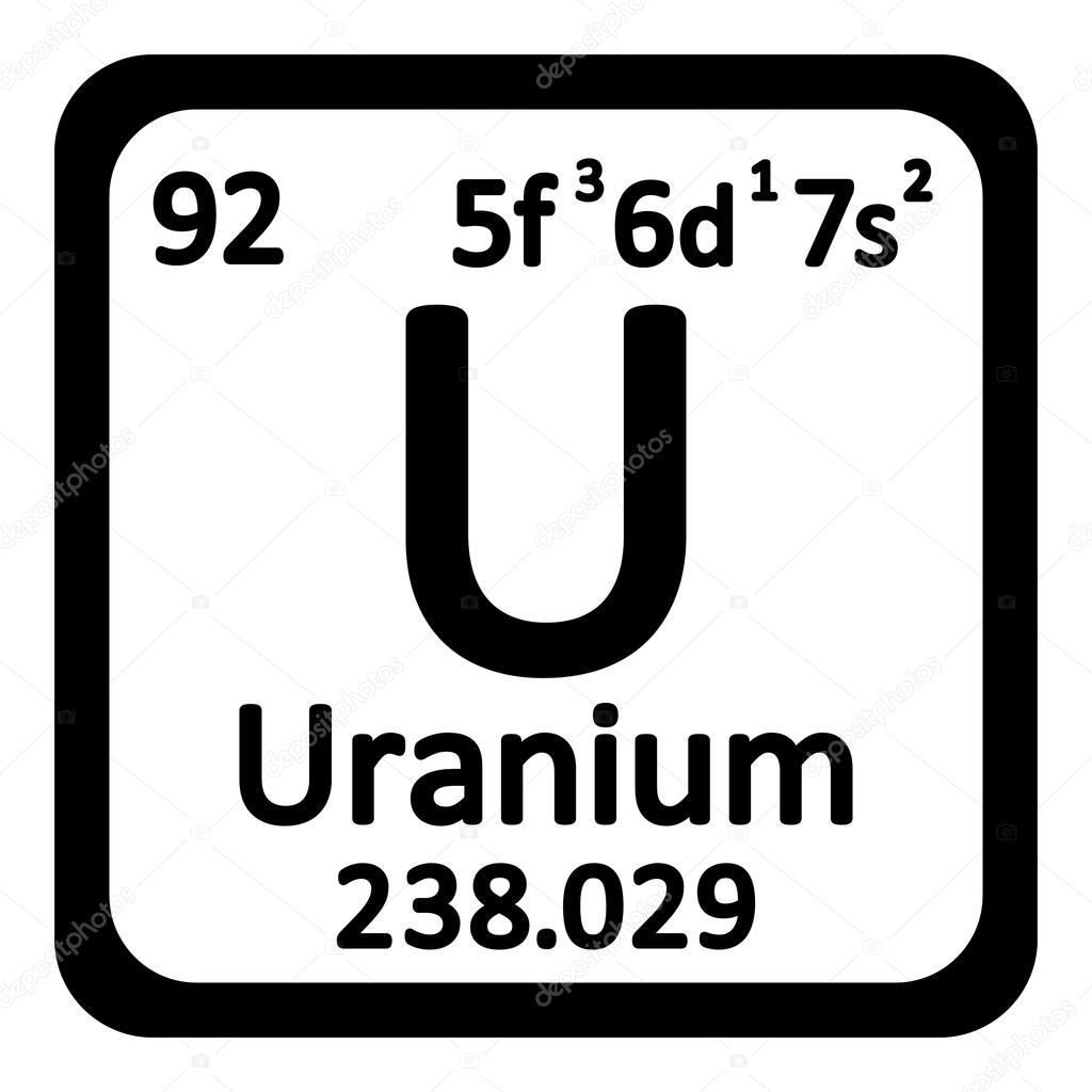 Periodic table element uranium icon stock vector konstsem periodic table element uranium icon on white background vector illustration vector by konstsem gamestrikefo Image collections