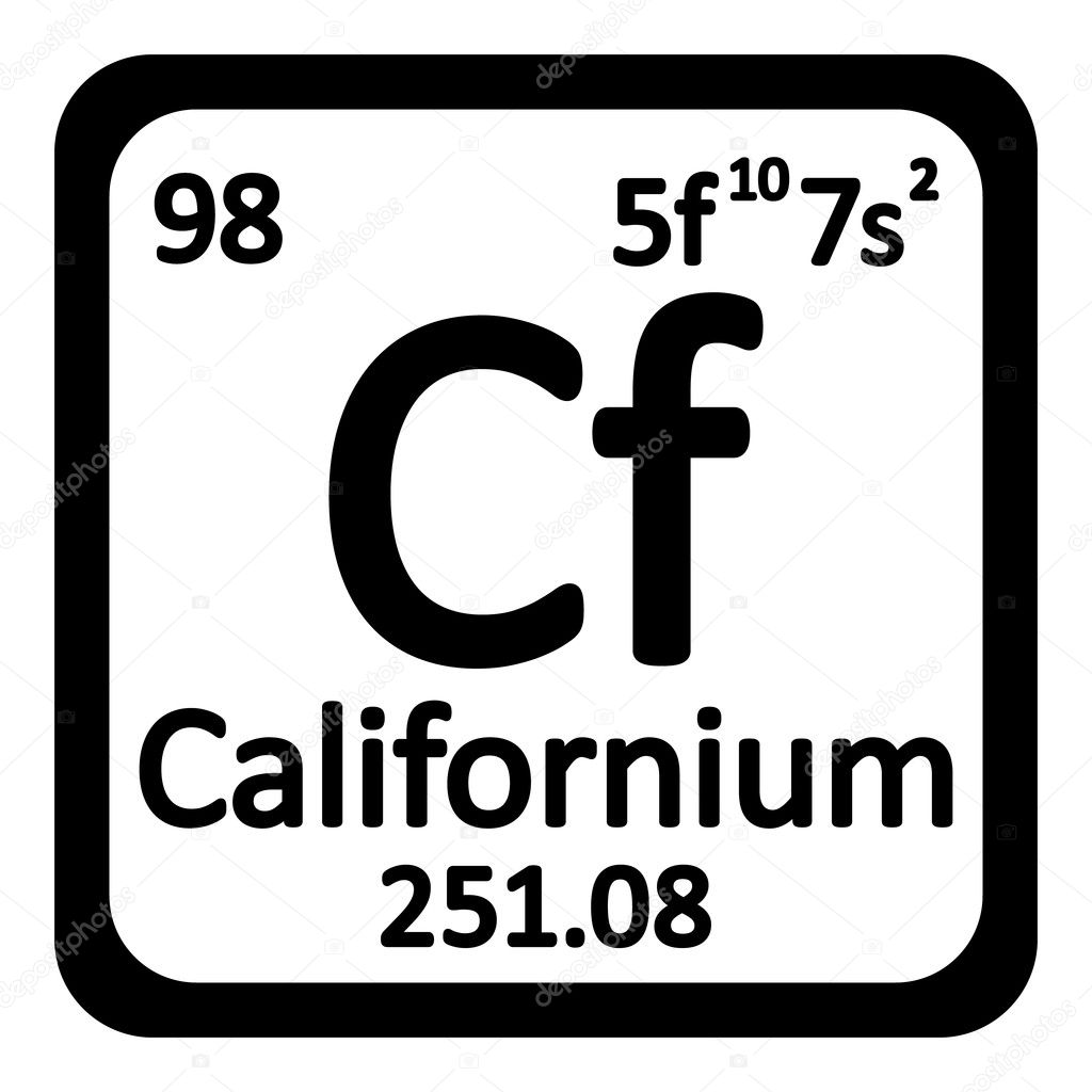 Periodic table element californium icon stock vector konstsem periodic table element californium icon on white background vector illustration vector by konstsem gamestrikefo Images
