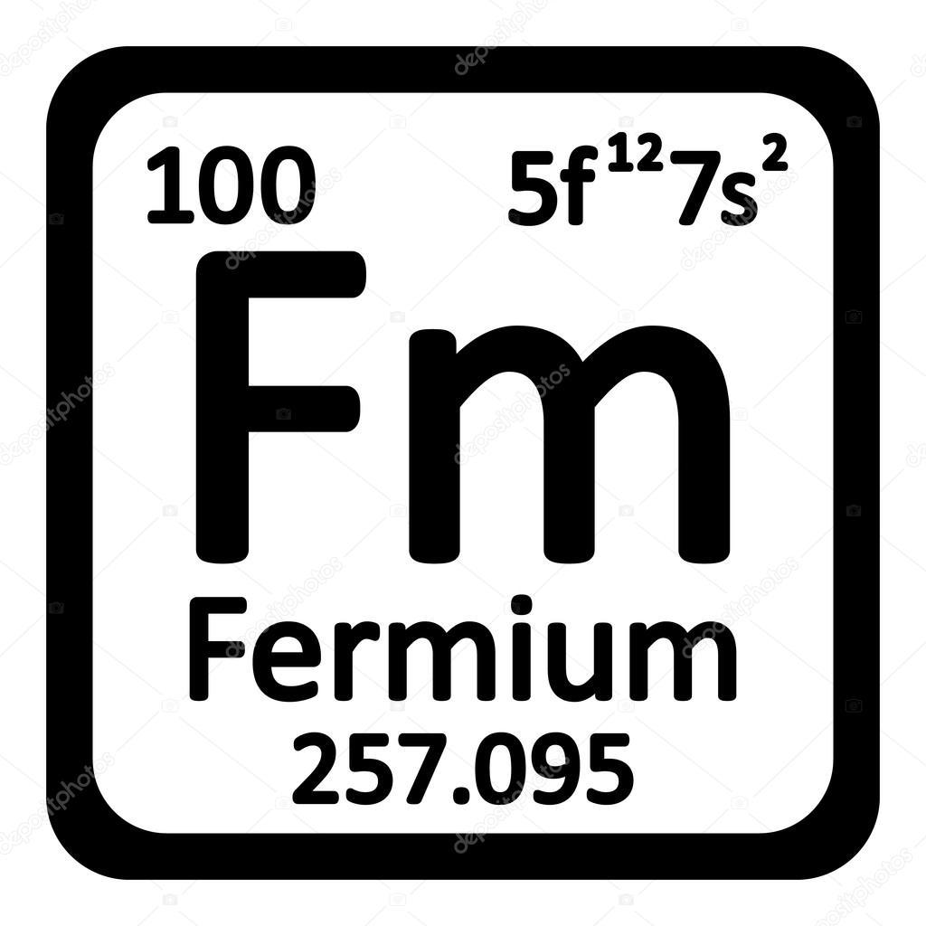 Icono de fermio elemento tabla peridica archivo imgenes tabla periodica elemento fermio el icono sobre fondo blanco ilustracin de vector vector de konstsem urtaz Choice Image