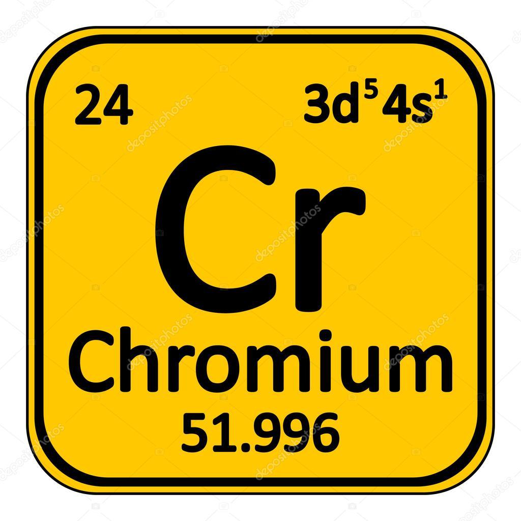 Icono de tabla periodica elemento cromo archivo imgenes tabla periodica elemento cromo el icono sobre fondo blanco ilustracin de vector vector de konstsem urtaz Choice Image