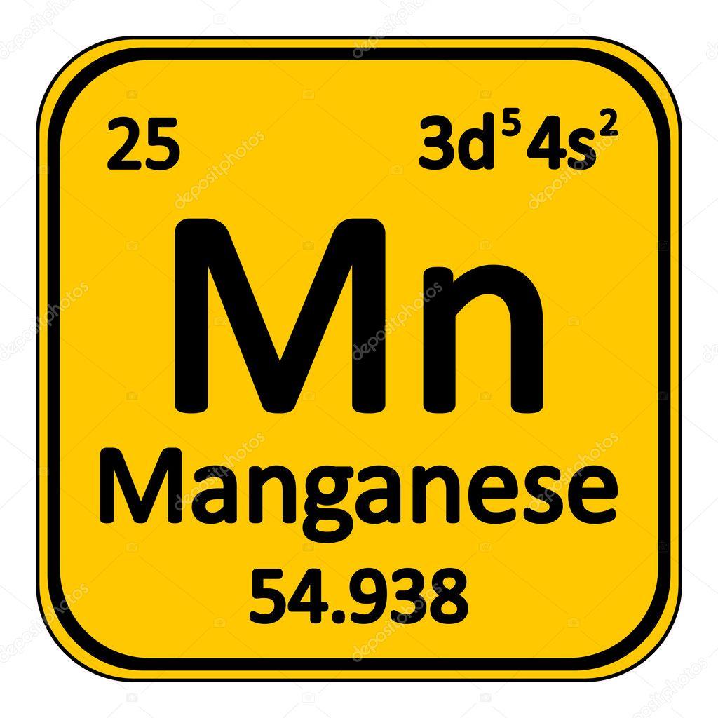 Icono de manganeso de elemento de tabla peridica archivo tabla periodica elemento manganeso en icono fondo blanco ilustracin de vector vector de konstsem urtaz Images