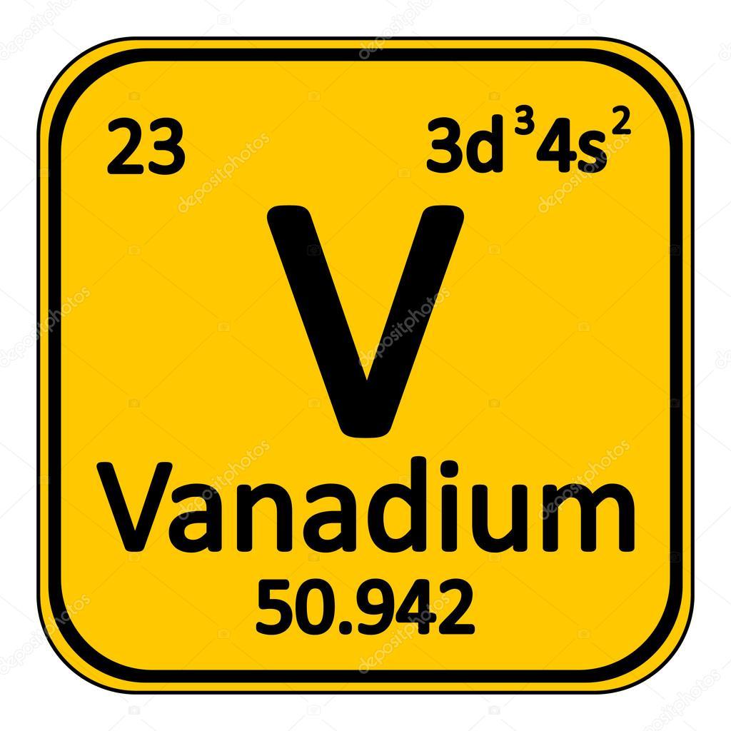 Icono de vanadio de elemento de tabla peridica vector de stock tabla periodica elemento vanadio el icono sobre fondo blanco ilustracin de vector vector de konstsem urtaz Images