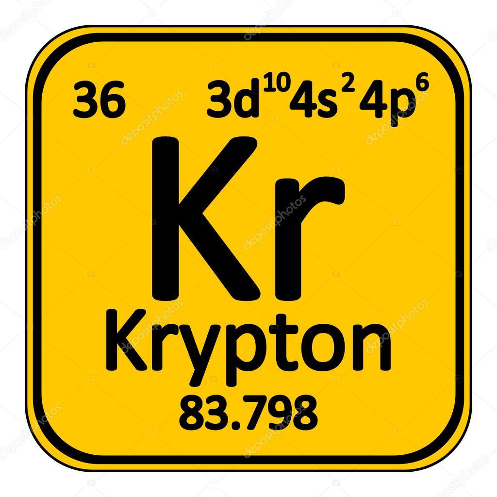 Icono de tabla periodica elemento criptn vector de stock icono de tabla periodica elemento criptn vector de stock urtaz Gallery